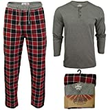 Tokyo Laundry - Pantalón de pijama - Cuadrados - Manga Larga - para hombre gris (Mid Grey Marl) Large