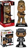 Funko POP! Star Wars: Finn (The Last Jedi) + Wacky Wobbler Chewbacca – Stylized Vinyl Bobble-Head Figure Set NEW