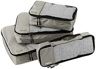 AmazonBasics Lot de 4 sacoches de rangement pour bagage Tailles S/M/L/Slim, Gris (B014VBIEZQ)   Amazon Products