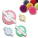 TaleeMall Pon Pon Maker Kit (4 Misure Piccolo alla Grandi) -Diy Crea Pom Pom Colorati