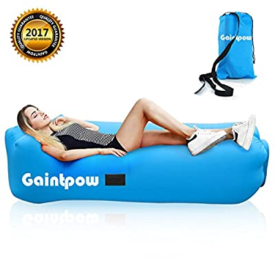 Inflatable Lounger, Gaintpow Waterproof Air Lounger with Thicker Fabric, Portable Lazy Lounger Inflatable Sofa Couch, Outdoor Sofa for Camping, Hiking, Swimming Pool, Beach, Backyard, Travelling, 2018 Improved Version - Hold Up To 500lb - low-cost UK ligh