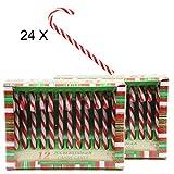 Bada Bing Zuckerstange Candy Canes Baumschmuck Lollie Weihnachten gestreift (24 TLG.)