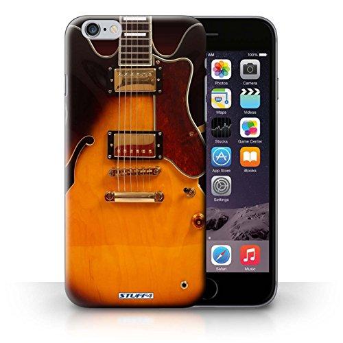 Kobalt® Imprimé Etui / Coque pour iPhone 6+/Plus 5.5 / Noir Electrique conception / Série Guitare Electro Acoustique