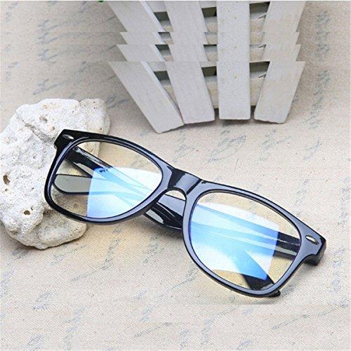 Männer Frauen Lesebrillen für den Computer, Schwarz Fram Transparnet Lens Brillen