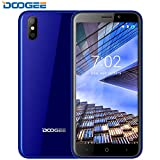 Smartphone ohne vertrag, DOOGEE X50 3G Dual SIM Android Go Handy Ohne Vertrag Günstig, 5 Zoll 18:9 HD Display, MT6580M Quad Core - 1.3 GHz, Dual 5.0MP Kameras,1GM+8GB - Voller Glaskörper, GPS - Blau