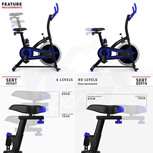 51sdXj7iB9L. SS500  - We R Sports Exercise Bike/ Aerobic Indoor Training Cycle Fitness Cardio Workout Home Cycling Machine - 10KG Flywheel