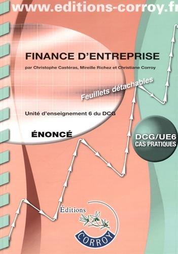 Finance d'entreprise nonc: UE 6 du DCG