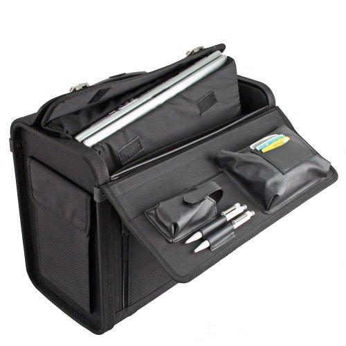 Dermata Pilotenkoffer Trolley 45,5 cm Laptopfach schwarz - 3
