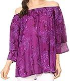 Sakkas 17034 - Flora Watercolor Tie Dye Doppia camicia a maniche corte Raglan - Viola - OS