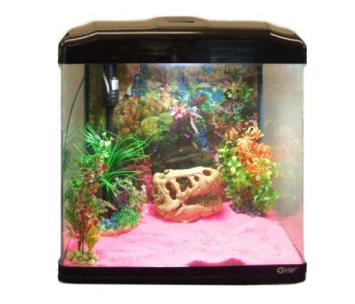 Aquarline Seastar HX 500 Aquarium Kit Complete with Lighting and Filter System 55 Litre, Black