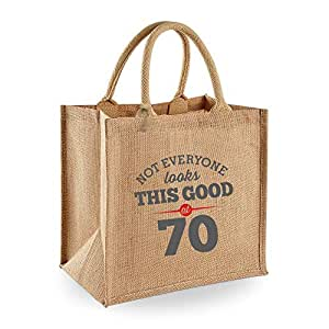 70th Birthday, Keepsake, Funny Gift, Gifts For Women, Novelty Gift, Ladies Gifts, Female Birthday Gift, Looking Good Gift, Ladies, Shopping Bag, Present, Tote Bag, Gift Idea (Grey Design)