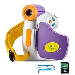 Kids Camera, Digital Video Camera for Kids, AMKOV Camera Camcorder, Ergonomic Design with 8GB SD Card 5MP HD Mini Portable 1.44 Inch Colorful Display Kids Toy
