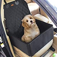 2 in 1 Pet Dog Car Waterproof Single Front Seat Mat Booster Seat Pet Carrier Seat Protector Travelling