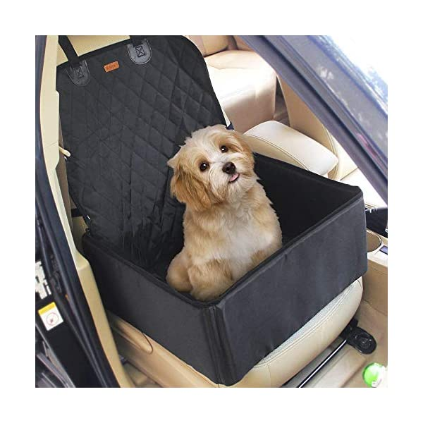 2 in 1 Pet dog car supplies thick waterproof single front seat pet car mat (Black) 51sdZgw8uNL