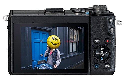 Offerta Canon Fotocamera Digitale Mirrorless EOS M6, Kit con Obiettivo EF-M  15-45mm, f/3.5-6.3 IS STM e SDHC 8GB Nero - Tutto Reflex