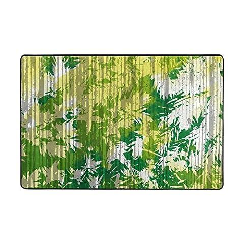 ingbags grün Blätter Wohnzimmer Essbereich Teppiche 3x 2Füße Bed Room