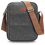 CoolBELL Umhängetasche Brusttasche Studenten Messenger Bag Radfahren Schultertasche Sling Pack Rucksack Nylon Daypack passt 10,6 Zoll Tablet/iPad,Canvas Grau