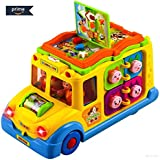 [Sponsored]BAYBEE Funbee Sound Toy School Bus Yellow-8 Activity Games, Automatic Rides, Lights And Music And Swinging