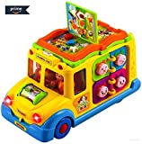 #9: BAYBEE Funbee Sound Toy School Bus Yellow-8 Activity Games, Automatic Rides, Lights and Music and Swinging