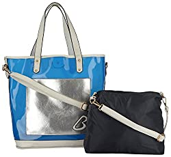 Moda King Women's Handbags (Blue) (ModaKing014)