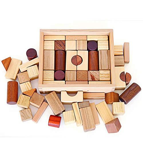 GG-Kinderspielzeug Bloques de construcción Juguetes de Madera bebé 1-2...