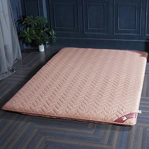 HYXL Anti-Rutsch Gepolsterte Boden Tatami matratze,Bodenkissen Kissen Pad Tatami Wohnzimmer teppiche für Schlafzimmer wohnheim-D 150x190cm(59x75inch)