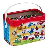 10-hama-202-67-loisirs-creatifs-baril-de-10000-perles-a-repasser-taille-midi-mix-22-couleurs