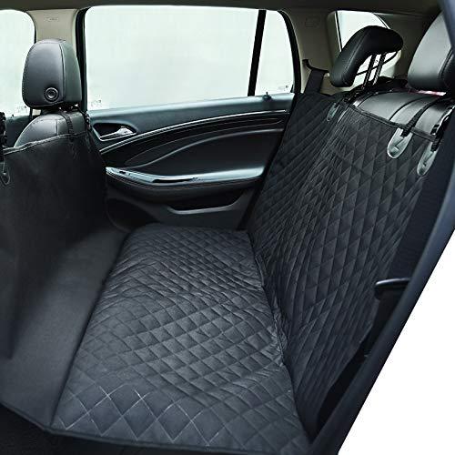 HONCENMAX Luxus Hund Autositzüberzug Haustiere Hängematte Cabrio Abdeckung Wasserdicht Rücksitzbezüge mit Seitenklappen für Auto SUV LKW (Für Wasserdichte Lkw Sitzbezüge)
