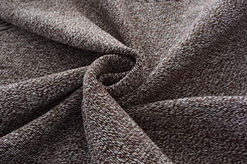 AZUO Quattro Stagioni Uso Generale Lino Tessitura Divano Asciugamano Soggiorno Legno Massello di Cotone E Lino Slipcover Protezione dei Mobili (Divano, Grigio),3,70 * 210CM