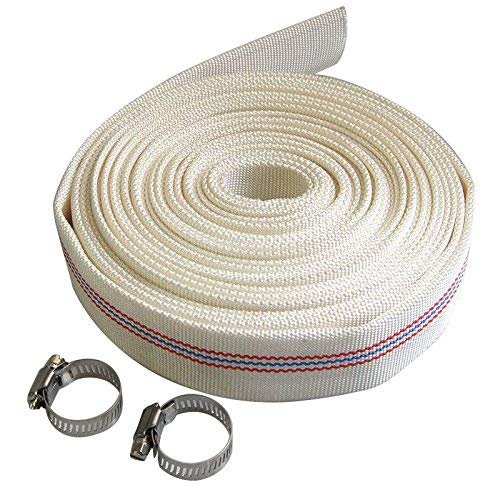 "Layflat Discharge Water Hose White 1.5"" 20Mtr"