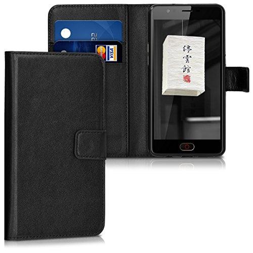 kwmobile ZTE Nubia M2 Lite Hülle - Kunstleder Wallet Case für ZTE Nubia M2 Lite mit Kartenfächern und Stand