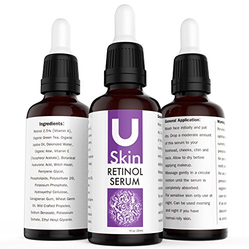 PREMIUM Retinol Face Serum with Hyaluronic Acid & Vitamin E, Best Anti Aging Retinol Serum for Wrinkles, Fine Lines & Sensitive Skin – Clinical Strength – Retinol Serum Treatment for Acne, Hydrate & Brighten your look! 100% Satisfaction
