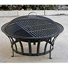 "Fire Pit 69cm Diam. ""Stromboli"" + BBQ Grid + Spark Guard + Poker + Weather Cover"