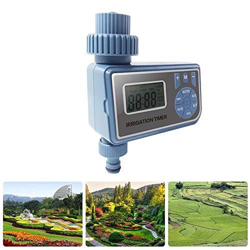 lennonsi Bewässerungssteuerung, Bewässerungsvorrichtung des Ausgangs Timer der Bewässerung des Gartens mit LED-Licht, Konfiguration multiciclo, intelligente Synchronisation Ausgang Display