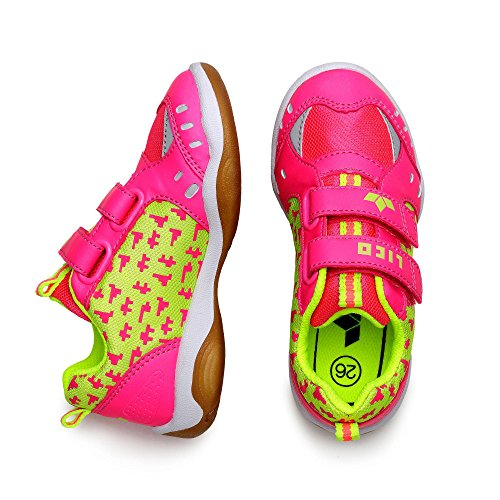 Lico Speed Indoor, Chaussures indoor garçon pink/lemon