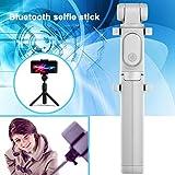 Hongfei Bluetooth Selfie Stick extensible Monopod con soporte para trípode y obturador remoto inalámbrico para iPhone X 8 Plus Samsung S9 Plus Smartphones y cámara deportiva (gris)