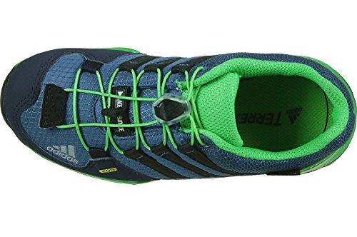 adidas Terrex Gtx K, Scarpe da Arrampicata Basse Unisex – Bambini Multicolore (Core Blue/core Black/energy Green)