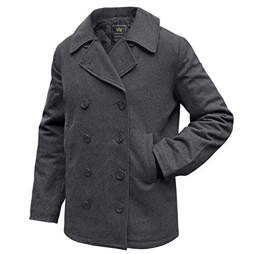 Alpha Pea Coat USN grau, L