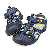 UOVO Boys Sandals Kids Sandals Trekking Hiking Sandals Closed Toe Athletic Summer Shoes for Beach(Toddler/Little Kid/Big Kid) Navy Blue 11 UK Child