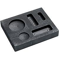 KKmoon Crisol de grafito fundido de alta pureza para herramientas de fundición de metal dorado y plateado de alta temperatura