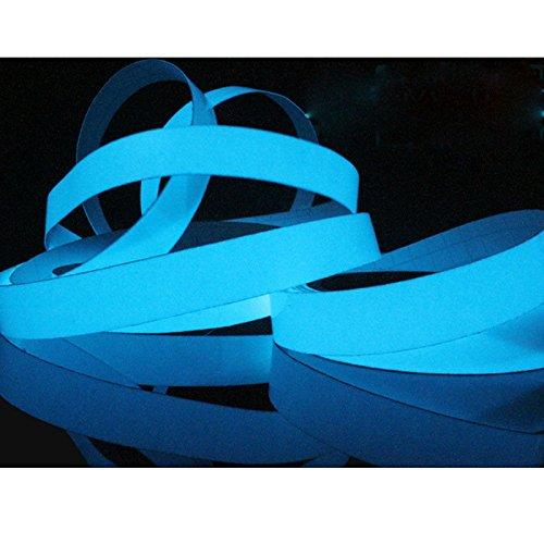 Fenghong Leuchtband, selbstklebend in der dunklen Streifen Bühne dekorative Pet Fluoreszierende Licht-Lagerung Anti-Rutsch-Band Größe 1.5cm x 1m Aufkleber Dekor blau (Farbe Dunklen In Glühen Grüne Der)