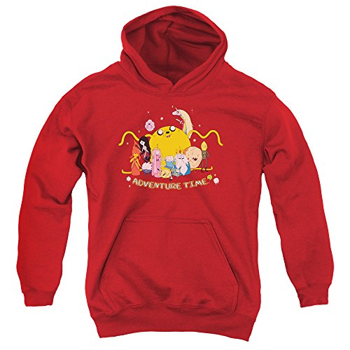 Adventure Time - - Youth Outstretched Hoodie mit Reißverschluss, Large, Red