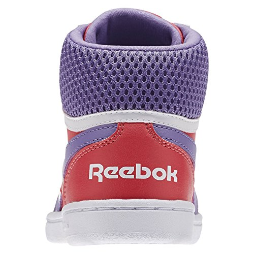 Reebok Mädchen Royal Prime Mid Turnschuhe Rosa / Violett / Weiß (Fearless Pink/Smoky Violet/White)