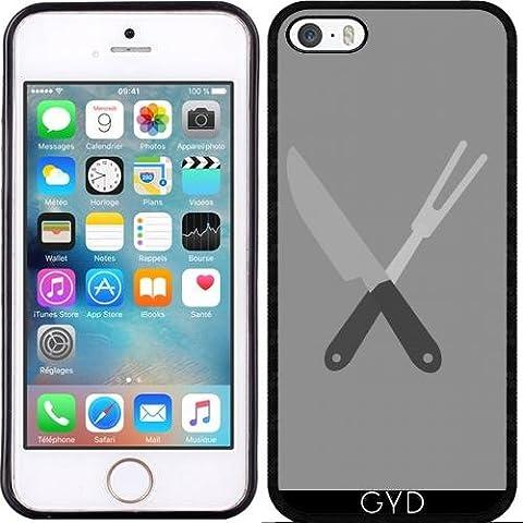 Coque Silicone pour Iphone 5/5S - Couteau Et Une Fourchette by ilovecotton