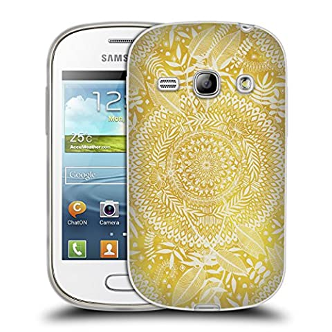 Official Micklyn Le Feuvre Medallion Pattern Doodle Patterns Soft Gel Case for Samsung Galaxy Fame S6810