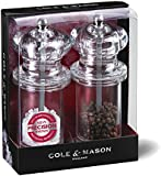 Cole & Mason Precision 505 Acrylic Salt and Pepper Mill Gift Set - Transparent