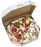 Rainbow Socks - Damen Herren Pizza Socken Box Mix Capricciosa Pepperoni Vegetarische - 4 Paar - Größen EU 36-40