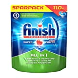 Finish All in 1 Spülmaschinentabs, Sparpack, 1er Pack (1 x 110 Tabs)