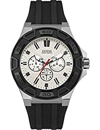 Guess Herren-Armbanduhr Analog Quarz Silikon W0674G3