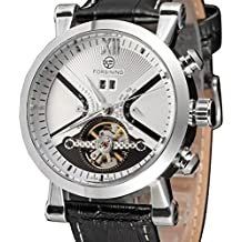 ba8aafbd4a4 Pixnor – Mecánica De Cuarzo automático reloj de pulsera Fecha Esqueleto piel  sintética ...